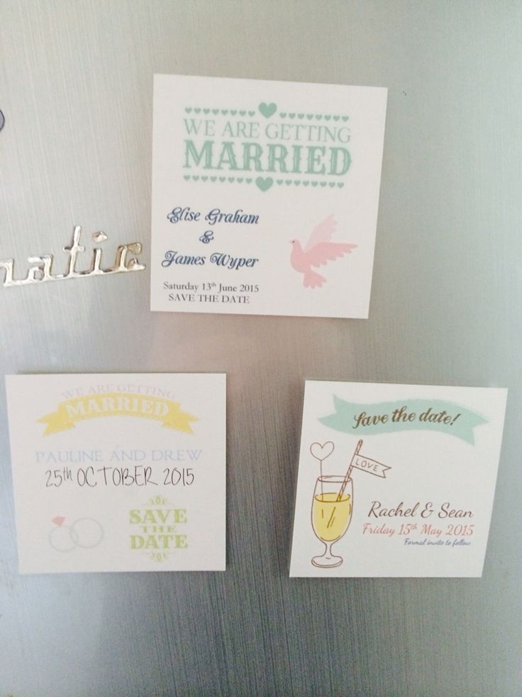 Magnet save the dates by Made Marvellous