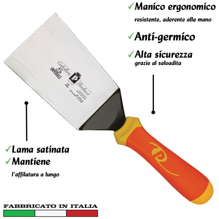 Spatola per lasagne inox 17 cm