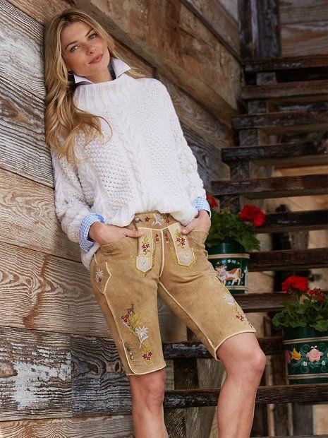 funny flowers lederhosen - pants - women - Gorsuch
