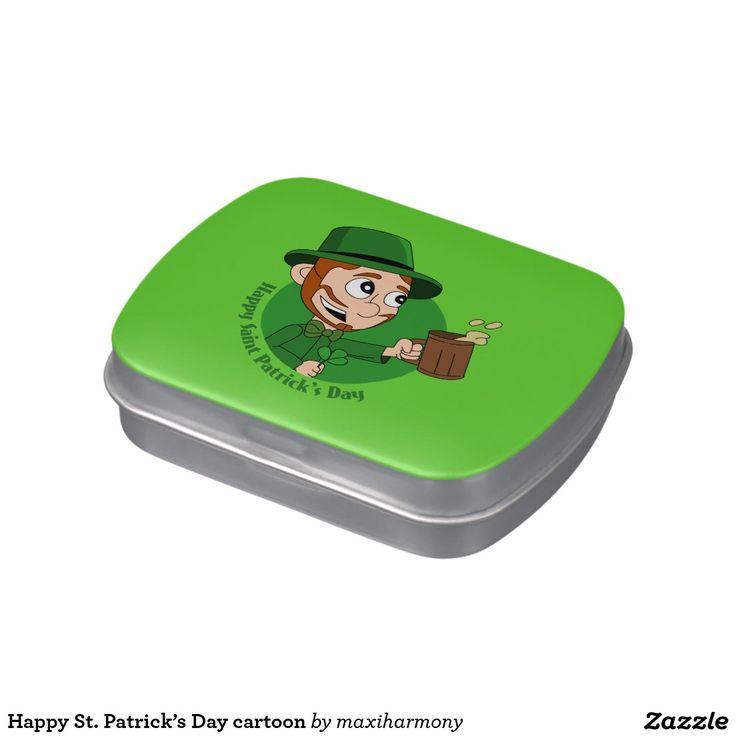 Happy St. Patrick's Day cartoon Candy Tin