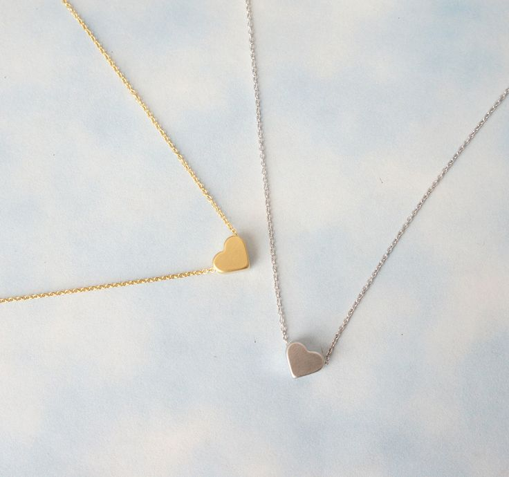 Heart Necklace, Simple Necklace, Everyday Necklace, friendship necklace.. $17.00, via Etsy.