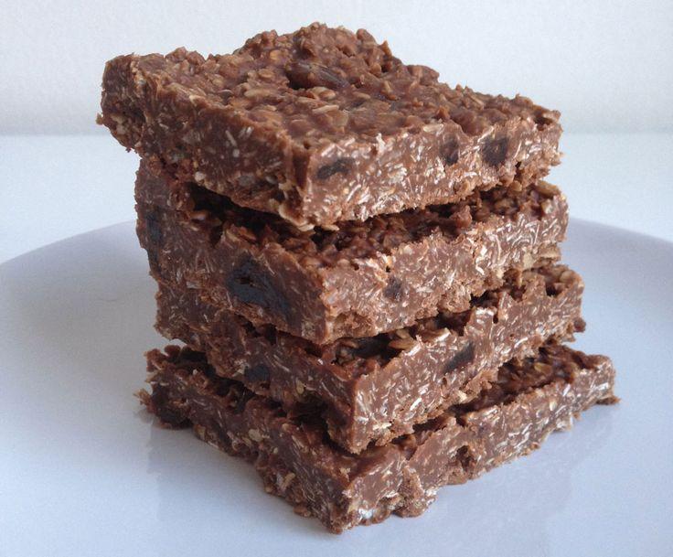 Vegan No bake chocolade havermout repen