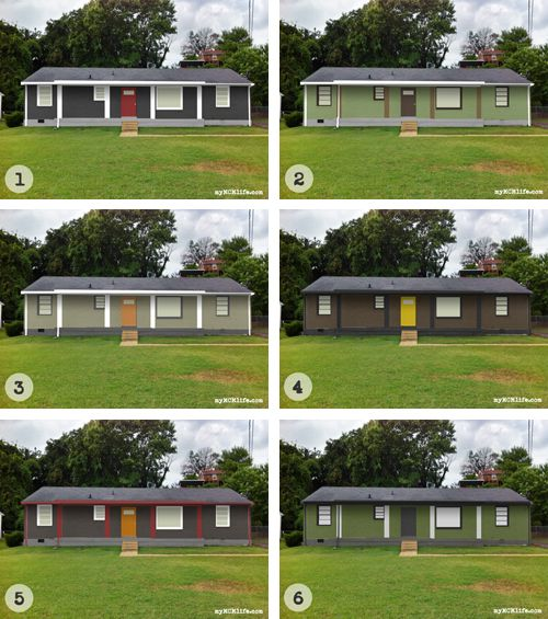 Exterior Color Schemes For Ranch Style Homes: 18 Best Brick Ranch House Before And After Images On Pinterest