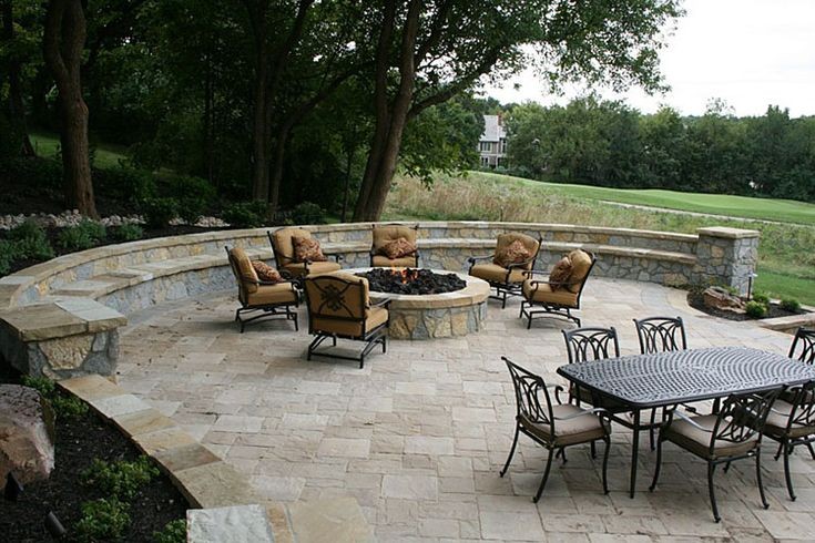 47 best images about pavers belgard basalite pavestone for Fire pit on concrete slab