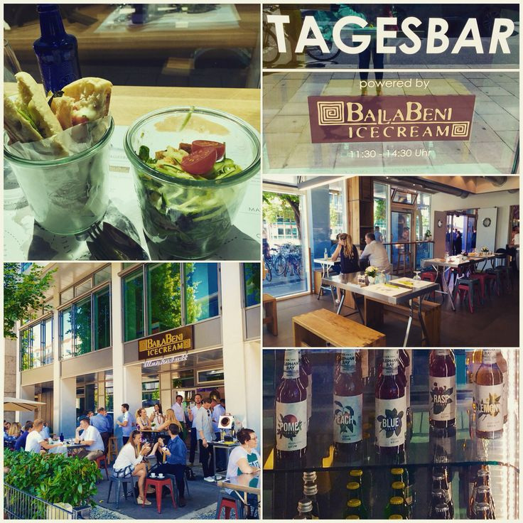 nice place for a lunch break in munich: ballabeni tagesbar serves up to 3 courses everyday. Italian food with a modern twist, served in big glasses. relaxing jazz music in the background and super friendly staff! don't forget to grab an icecream afterwards! glutenfree isn't easy here, but there're always salad and/or soup options.