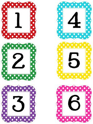 Multi Polka Dot Numbers Printable -- I just found these on a blog and they are the most awesome things! I am using these for my Scrapbook pages :)   This lady is super talented
