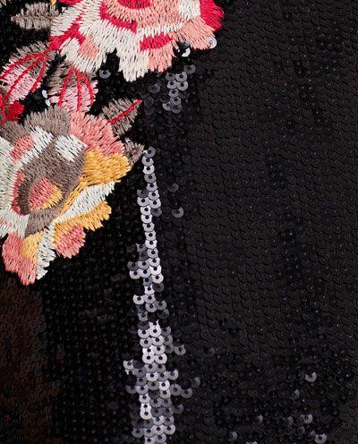 изображение 7 из МИНИ-ПЛАТЬЕ С ПАЙЕТКАМИ И ВЫШИВКОЙ от Zara