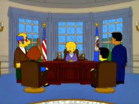 Kind of funny Simpsons episode where Lisa Simpson calls the Donald Trump Presidency, Increased Debt