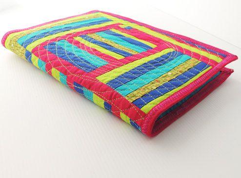 Quilted Art Journal Notebook Journal Scrapbook cover by bekahdu, $30.00