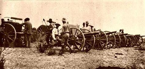Artilleria de la division del norte marzo 1914 a las ordenes de gral Felipe Angeles.