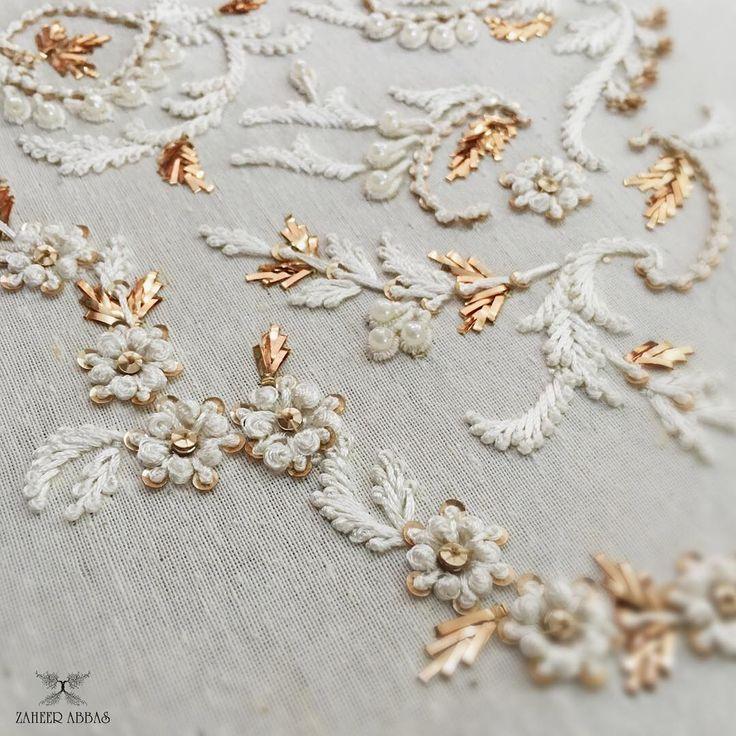 "515 Likes, 2 Comments - Zaheer Abbas (@zaheerabbasofficial) on Instagram: ""Intricate hand embroidered details!!! #details #handembroidery #craftmanship #zardosi #resham…"""