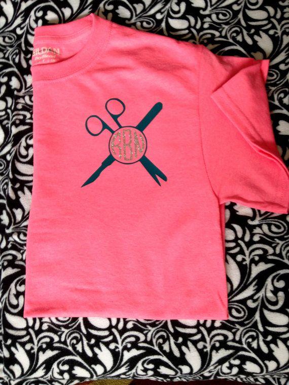 Surgical Tech/Scrub Life Monogram T-Shirt by JustaBrittCrafty