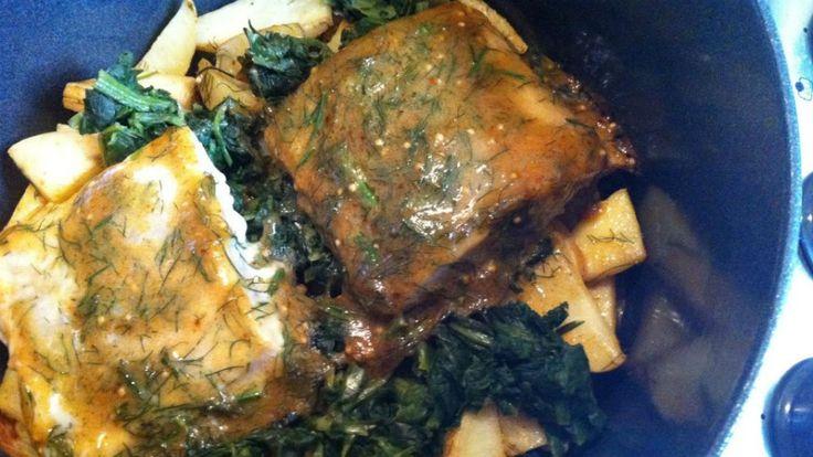 Prepara un salmón glaseado con mostaza y miel al horno
