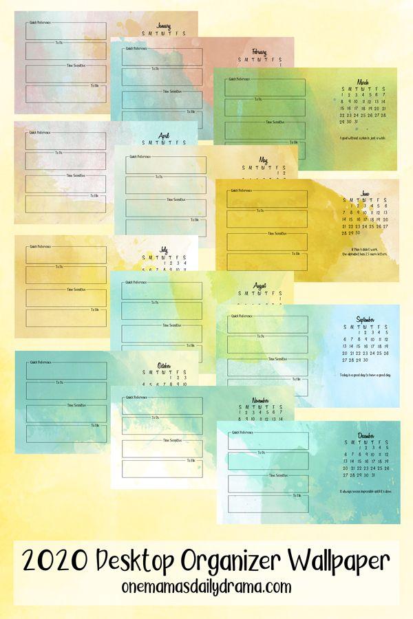 Desktop Organizer Wallpaper 2020 Calendar And File Organizing Desktop Wallpaper Organizer Desktop Organization Desktop Planner
