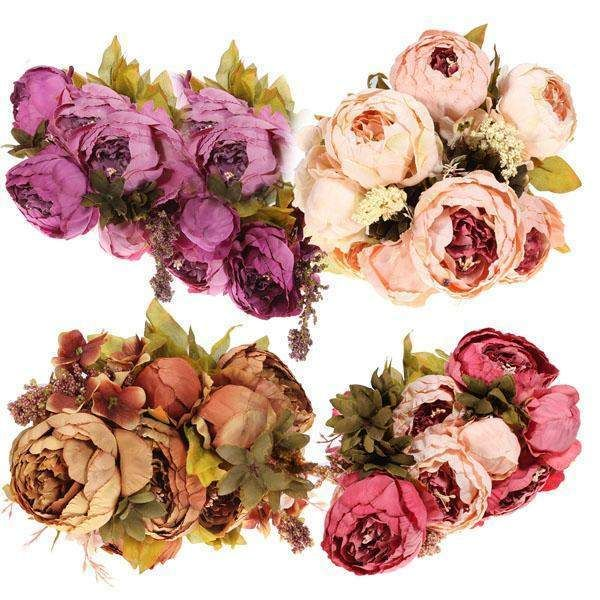Wallmart.win Artificial Peony Bouquet Artificial Silk Flowers Home Wedding Decor: Vendor: BG-US-Clothing-and-Apparel Type: Wedding Decor…