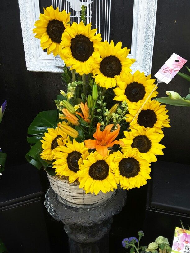 The best sunflower arrangements ideas on pinterest