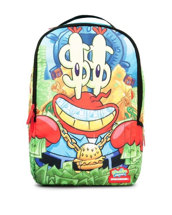 Sprayground Boys' Mr. Krabs & Spongebob Backpack