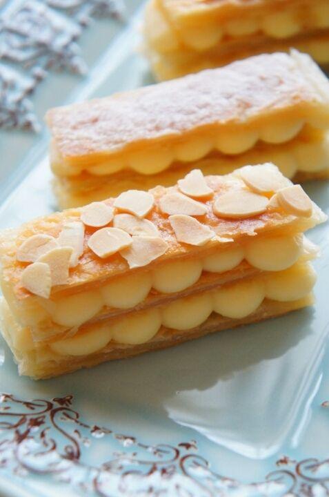 フライパンで簡単!冷凍パイシートとレンジで出来ちゃう濃厚カスタードのミルフィーユ | 珍獣ママ オフィシャルブログ「珍獣ママのごはん。」Powered by Ameba