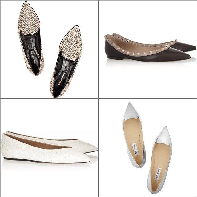 Балетки с острым носом есть практически у всех брендов, а значит и нам никуда от них не деться, но я своим 39 размером избегаю такую обувь. А вы носите? #NicholasKirkwood #Valentino #IsabelMarant #JimmyChoo #shoes