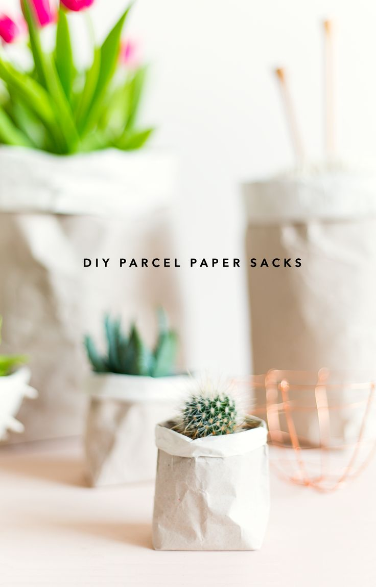 Do you have a problem with hoarding packaging papers too? It's alright! This DIY Packing Paper Sack Planters & Vases is for you!