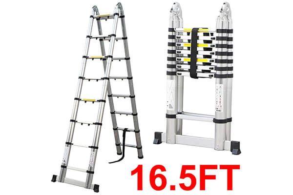 Folding Aluminum Telescopic Ladder Extension