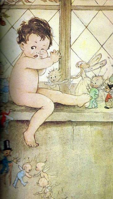 illustration jeunesse UK : Peter Pan, Mabel Lucie Attwell, bébé, enfant