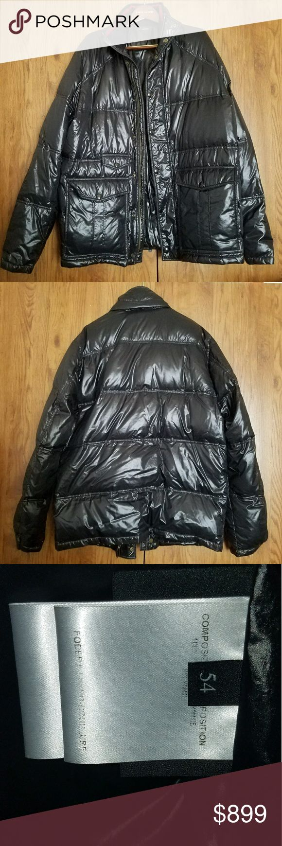 GUCCI MEN'S PUFFER HOODED COAT This men's puffer coat from Gucci is PERFECT for the cooler months! Gucci size 54 which fits like an XL. Shell is a shiny Polyamide, and the filling is responsibly sourced down feathers. Lightweight, but still very warm. Worn just twice and still in like new condition! Gucci Jackets & Coats Puffers
