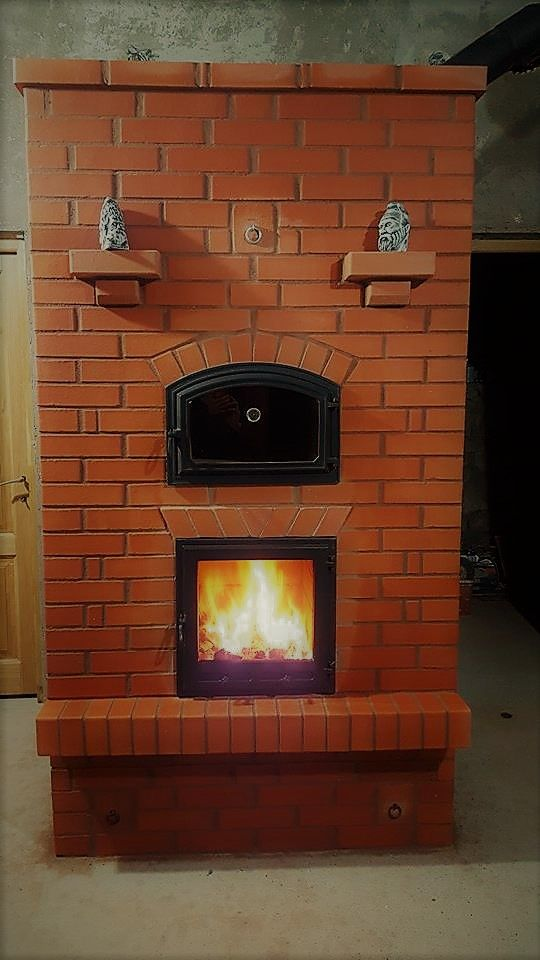 Double bell stove with Ecofirebox. 95% efficiency in Romania