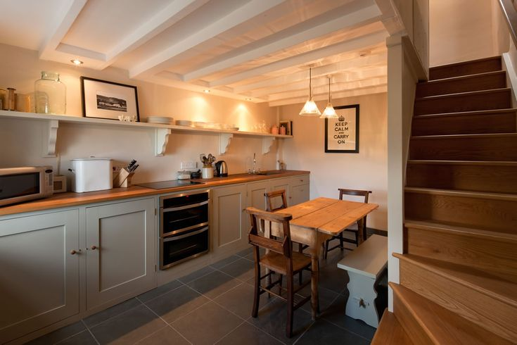 Keep Calm and Carry on....    Beautiful kitchen at Tailor's Cottage fully equipped so you can cook your favourite dinners!    http://www.sheepskinlife.com/relax-at/tailors-cottage/#