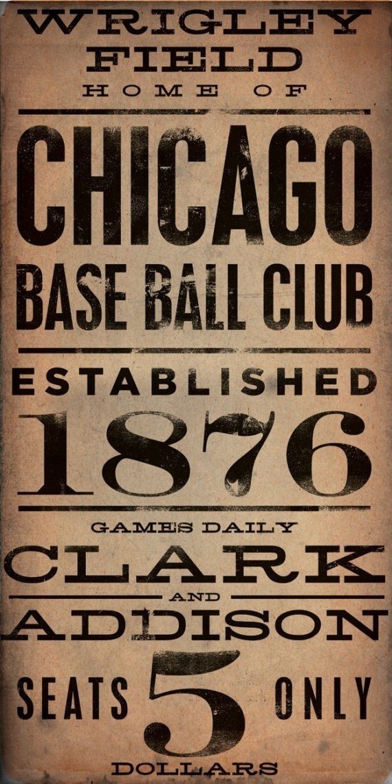 Wrigley Field - Vintage Chicago Cubs Sign    I am pinning this for one my favorite girls in the world.  Love you @Libbi Coyne Diane Flynn.
