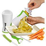3 in 1 Vegetable Spiralizer Bundle, Julienne Peeler, Spiral Slicer Vegetable Cutter, Noodle Maker and Pasta Maker - Professional Grade Stainless Steel w/ Premium Japanese Blades - Zucchini Spaghetti Pasta Maker - 100% Lifetime Guarantee! Comes with 4 FREE Accessories (Ceramic Peeler, Cleaning Brush, Recipe E-Book, How to Use Manual) by SureSlice®: Amazon.co.uk: Kitchen & Home