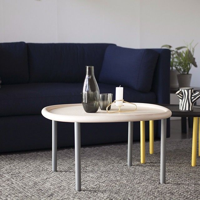 """""""The wavy edge on Serve Table is made from solid steam bent wood #servetable #wrongforhay #wh #hay"""" #inspiration #design"""