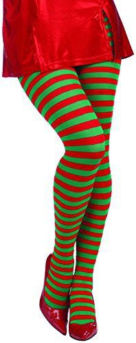 Forum Novelties Women's Adult Christmas Striped Tights - Ugly Sweaters