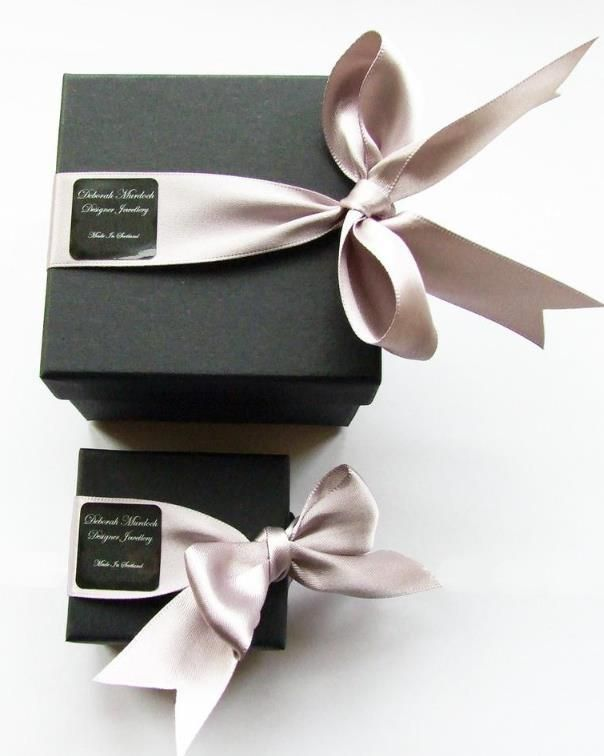 Black box and nice elegant bow | gift wrapping idea