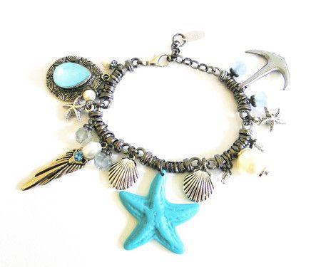pulseira de berloque, pulseira de sereia, sereismo, pulseira de conchas