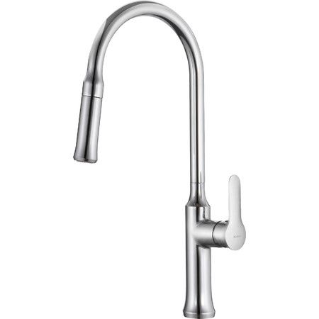 Update the heart of your home in sleek style with this pull-down faucet, perfect for rinsing dinner dishes and filling stockpots.  P...
