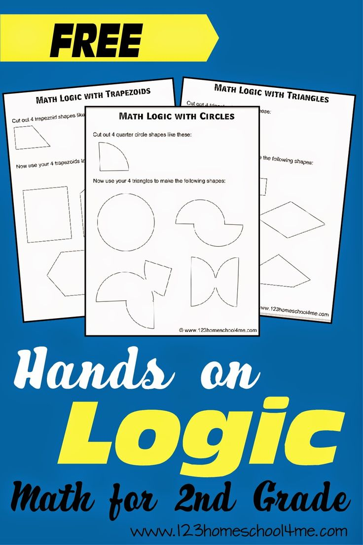 Shape Logic Problems for 2nd Grade Math #handsonmath #mathgames #homeschool