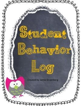 Daily Student Behavior Log for Parent Communication