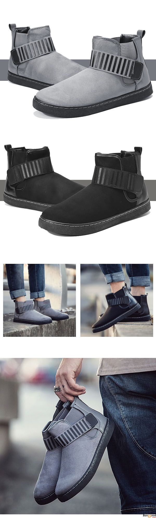 US$38.88 + Free Shipping.  2 colors available.  Men Hook Loop Stripe Elastic Band Comfortable Suede Ankle Boots . Men formal shoes, short boots, casual comfortable shoes, oxford shoes, boots, Fashion and chic, casual shoes, men's flats, oxford boots,leather short boots, men's style, chic style, fashion style.  Shop at banggood with super affordable price. #men'sshoes#men'sstyle#chic#style#fashion#style#wintershoes#casual#shoes#casualshoes#boots#oxfordshoes#loafers#flats#shortboots