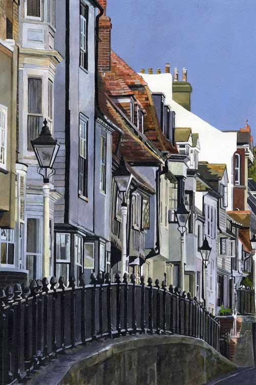 HIGH STREET, HASTINGS- Hastings old town, East Sussex- Giclee print by Colin Bailey