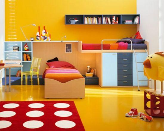 Modele de perdele si covoare pentru camera copiilor - 50 de imagini cu idei de asortare