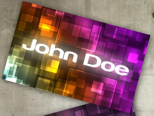 Cool business cards. 50 PSD templates - Standard Business Card size.  Editable Photoshop files and tutorials.
