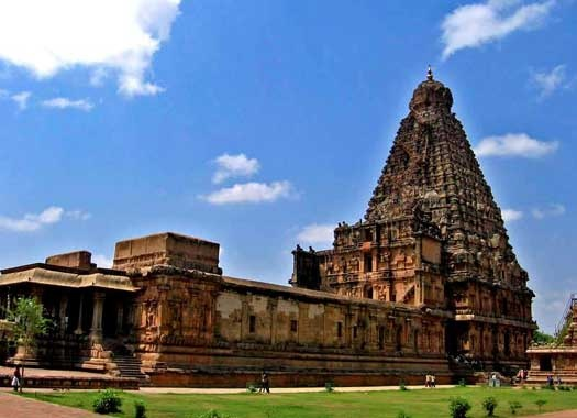 "Brihadeswara temple in Tanjore is the world's first complete granite temple and a brilliant example of the major heights achieved by Cholas kingdom Vishwakarmas in temple architecture. It was built dedicated to Nandi- the Bull.   The temple is part of the UNESCO World Heritage Site ""Great Living Chola Temples"""