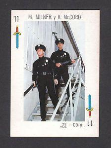 Adam-12 TV | Adam 12 TV Series 1960s Scarce Spanish Card Policeman | eBay