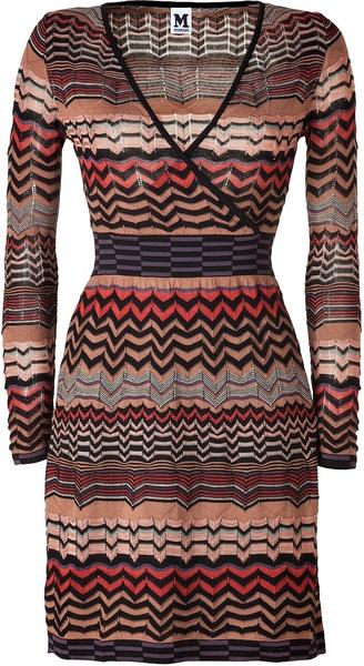 Missoni M Blackmandarinmulti Knit Dress in Black - Lyst