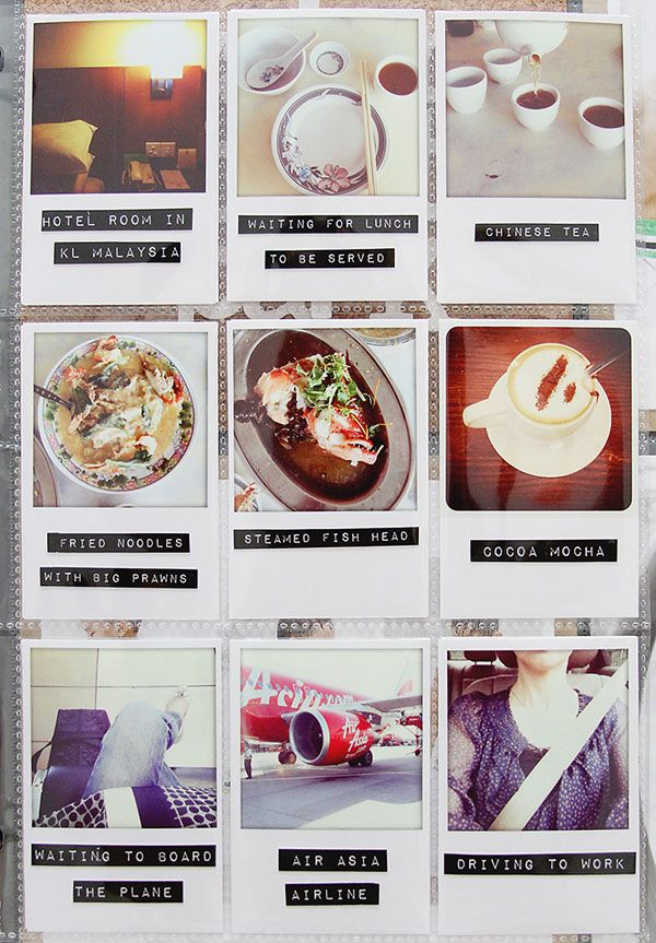 faux polaroids & dymo punch labels -- by Leena Loh. I am so doing this as soon as I unpack my dymo!!
