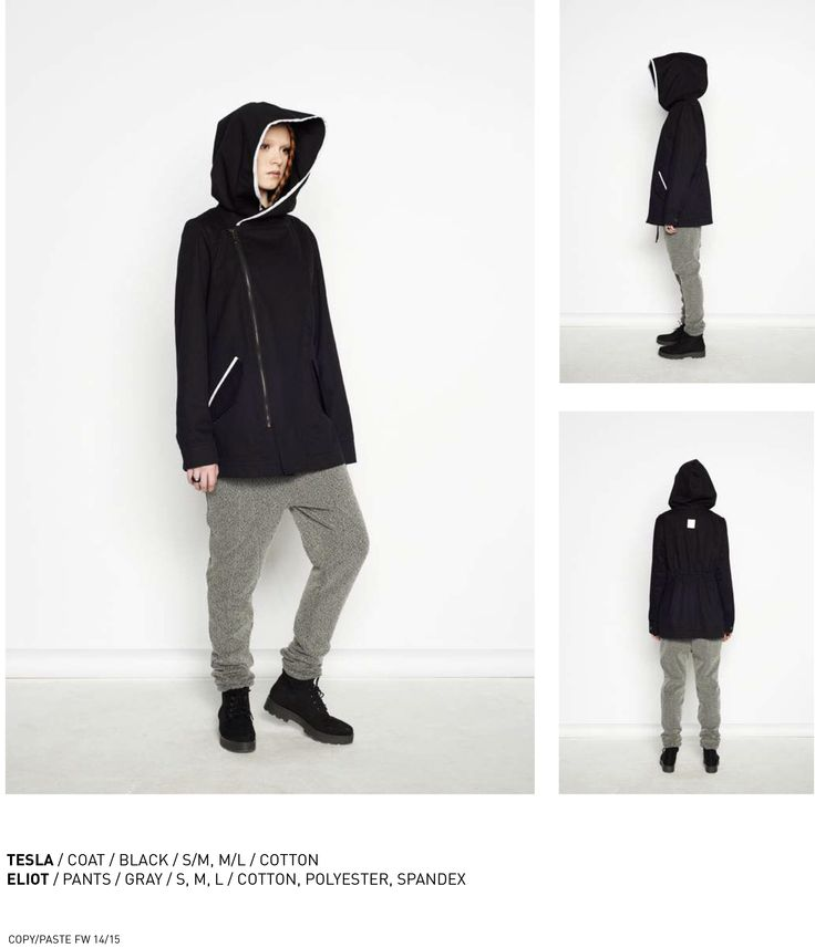 nenukko.com #black #hooded #coat