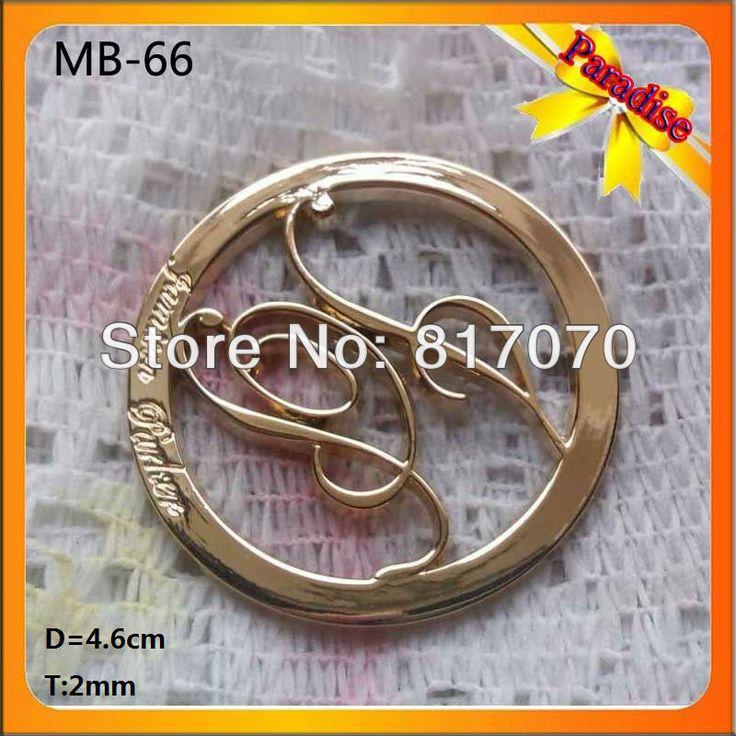 (МБ-66) продажи Завода золотой сумки круглый повесить металла логотип значок/контактный логотип для одежды/сумки украшения