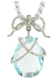 Barry Kronen Pear-shape Blue Topaz Pendant