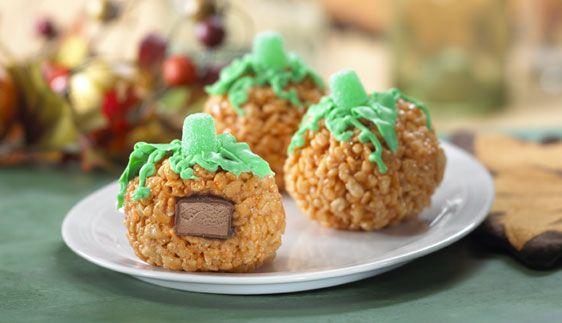 Surprise Pumpkin Treats™ Recipe - Kellogg's® Rice Krispies®